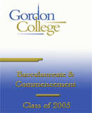 Gordon College Commencement Ceremonies 2005