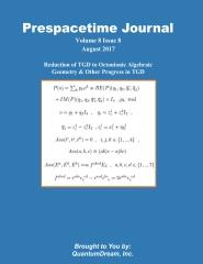 Prespacetime Journal Volume 8 Issue 8