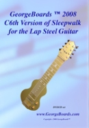 Lap Steel Guitar Instructional DVD GeorgeBoards 2008 C6th Version of Sleepwalk