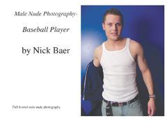 Male Nude Photography - Baseball Player