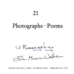 21 Photographs ~ Poems