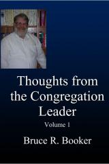 Thoughts From The Congregation Leader