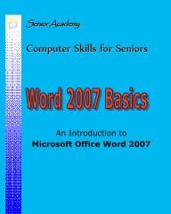 Word 2007 Basics