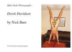 Male Nude Photography- Derek Davidson