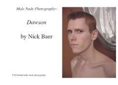 Male Nude Photography- Dawson