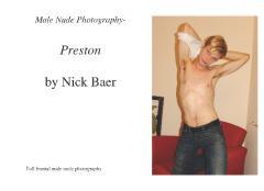 Male Nude Photography- Preston