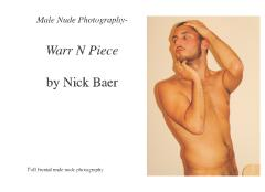 Male Nude Photography- Warr N Piece