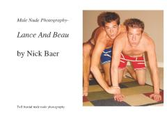 Male Nude Photography- Lance And Beau