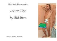 Male Nude Photography- Shower Guys