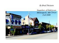 Snapshots of Dinkytown, Minneapolis, MN 55414, Fall 2008
