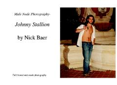 Male Nude Photography- Johnny Stallion