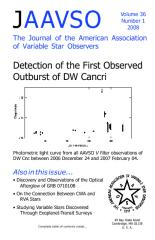 Journal Of The American Association Of Variable Star Observers (Jaavso) Vol. 36, Nr. 1, 2008