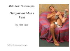 Male Nude Photography- Hungarian Men's Feet