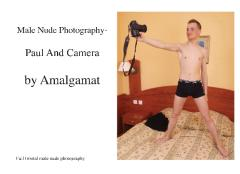 Male Nude Photography- Paul And Camera