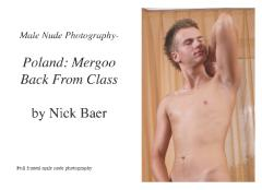 Male Nude Photography- Poland: Mergoo Back From Class