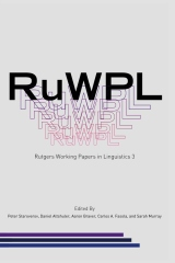 Rutgers Working Papers in Linguistics