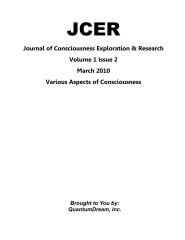 Journal of Consciousness Exploration & Research Volume 1 Issue 2