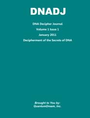 DNA Decipher Journal Volume 1 Issue 1