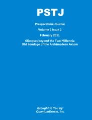 Prespacetime Journal Volume 2 Issue 2