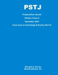 Prespacetime Journal Volume 1 Issue 9