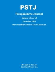Prespacetime Journal Volume 1 Issue 10