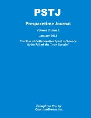 Prespacetime Journal Volume 2 Issue 1
