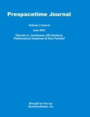 Prespacetime Journal Volume 2 Issue 6