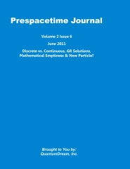 Prespacetime Journal Volume 2 Issue 6