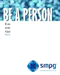 Be a Person - The Social Operating Manual for Enterprises