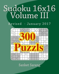 Sudoku 16x16 Vol III