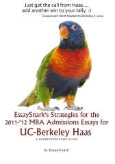 EssaySnark's Strategies for the 2011-'12 MBA Admissions Essays for UC-Berkeley Haas