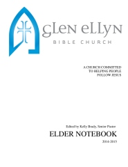 Glen Ellyn Bible Church Elder Notebook