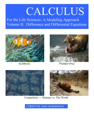Calculus for the Life Sciences: A Modeling Approach, Volume II,  Difference and Differential Equations