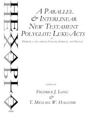 A Parallel & Interlinear New Testament Polyglot