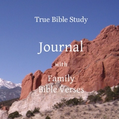 True Bible Study - Journal with Family Bible Verses