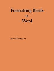 Formatting Briefs in Word