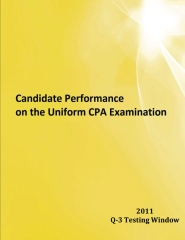 Candidate Performance on the Uniform CPA Examination