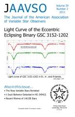 The Journal of the American Association of Variable Star Observers Volume 39 Number 2 2011