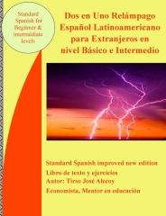 Dos en Uno Relámpago  español latinoamericano para extranjeros en nivel básico e intermedio