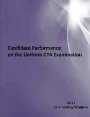 2011 Window Q-4 Candidate Performance on the Uniform CPA Examination