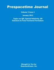 Prespacetime Journal Volume 3 Issue 1