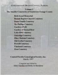 Cemeteries Of Orange County, Florida