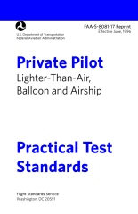 Private Pilot Lighter-than-Air Practical Test Standards FAA-S-8081-17