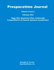Prespacetime Journal Volume 3 Issue 2