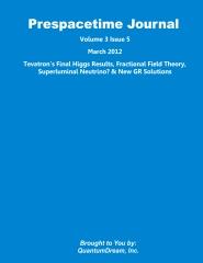 Prespacetime Journal Volume 3 Issue 5