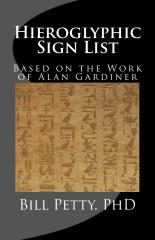 Hieroglyphic Sign List