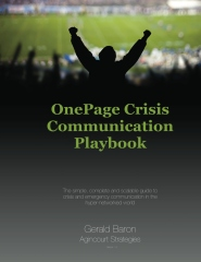 One Page Crisis Communication Playbook