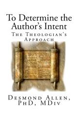 To Determine the Author?s Intent