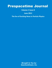 Prespacetime Journal Volume 3 Issue 8