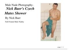 Male Nude Photography- Nick Baer's Czech Mates Shower